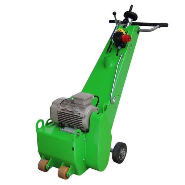 Universell verwendbare Bodenfräsmaschine DBF-250-E400 besitzt ein schlichtes grün gehaltenes Design, aber überzeugt durch ein vielseitiges Anwendungsfeld.