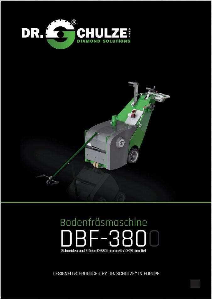 Das Vorschaubild des Infoblattes der DBF-380 stellt die Maschine und seine wichtigsten Komponenten anschaulich vor einem grauen Hintergrund dar.