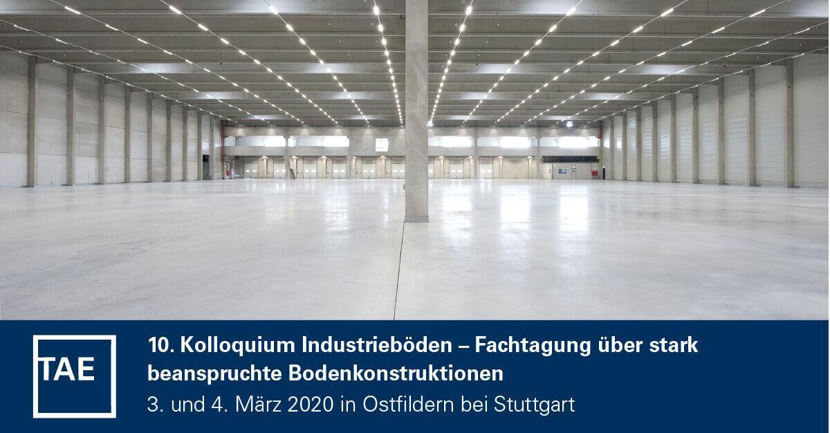 Die Dr. Schulze GmbH richtet ein TAE Kolloquium für die richtige Bearbeitung von Industriefußböden aus, auf dem Foto ist ein Industrieboden abgebildet.
