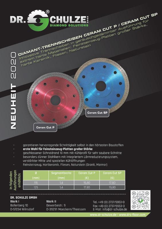 Die absolute Neuheit Ceram Cut SP-P auf dem Diamanttrennscheiben Markt bietet revolutionäre Anwendungsmöglichkeiten und ist in Rot oder Blau verfügbar.