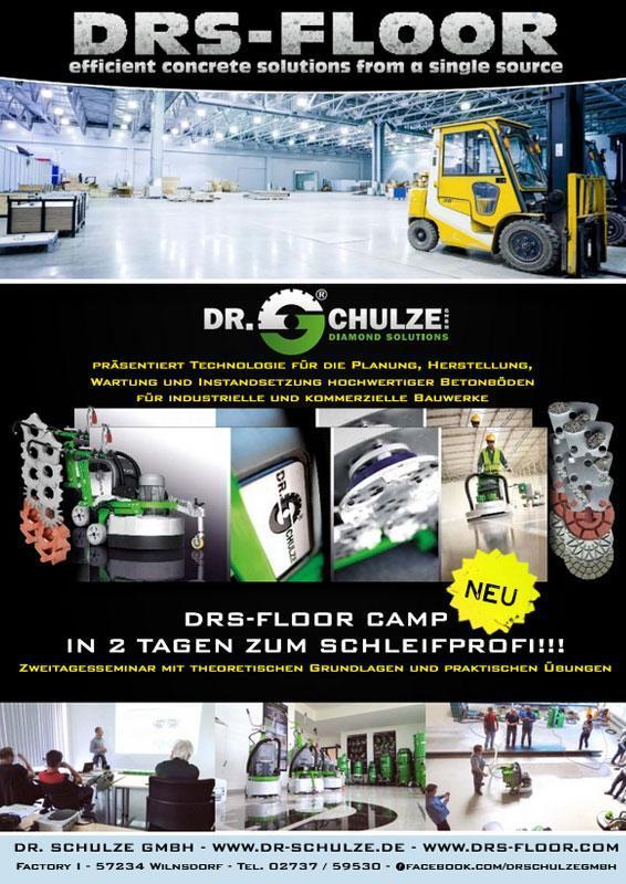 Die umfangreiche Produktauswahl der Bodenbearbeitung mit DRS-FLOOR wird in dieser Produktübersicht ansprechend auf einer Kombination von Fotos präsentiert.