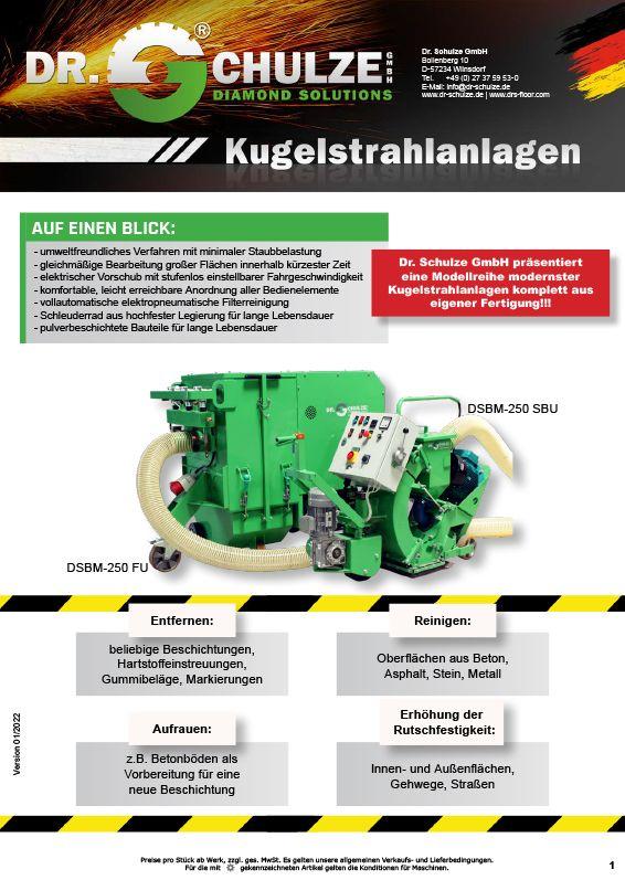Mit der neuen Produktreihe der DSBM Kugelstrahlanlagen und passenden Luftreinigungssystem hat die Dr. Schulze GmbH neue, innovative Maßstäbe gesetzt.