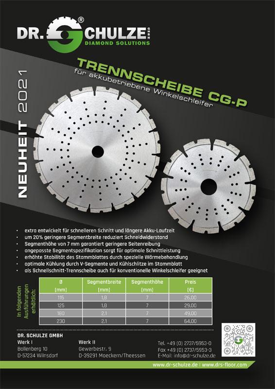 In unterschiedlichen Größen ist auf diesem Infoblatt Vorschaubild die graue Trennscheibe Laser-CG-P 14 inklusive wichtiger Informationen dargestellt.