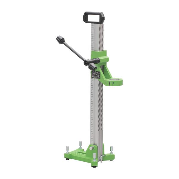 The practical drill stand Drill-14 Eco of the Master series impresses with its lightness and attractive appearance in a photo on various applications.