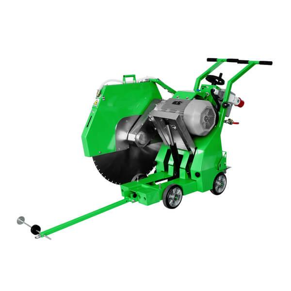 On the pictures, the FS-800 LST electronic floor cutter shows that there are practical functions and a pleasant shade of green for a modern design.