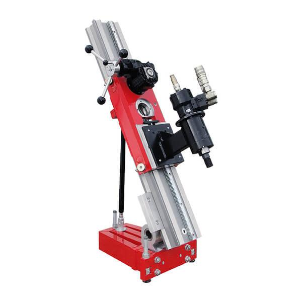 Hydraulic drill motor B600 with a robust drill stand system of the type Kombi-System Meissner. Suitable for bores up to Ø 600 mm with OMR 300 motor.