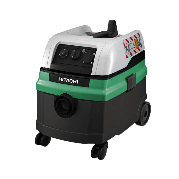 Green and black Hitachi RP 250YDM wet and dry vacuum cleaner for removing dirt when working with Dr. Schulze devices. Guaranteed clean work.