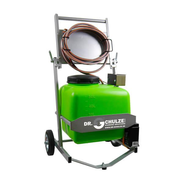 Green water pressure tank WT-50 from Dr. Schulze GmbH as a practical accessory for efficient and fast working in many fields of application.
