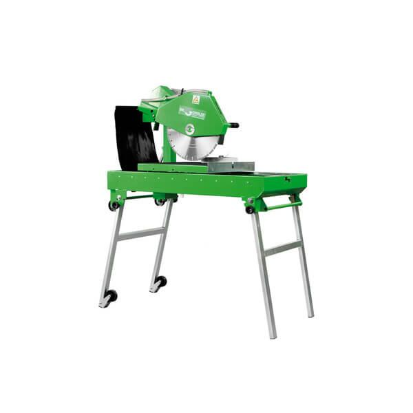The BS-400 LST-E400 is a green table saw and cuts with cutting discs 400 mm, the depth of cut is infinitely adjustable via gas pressure dampers.