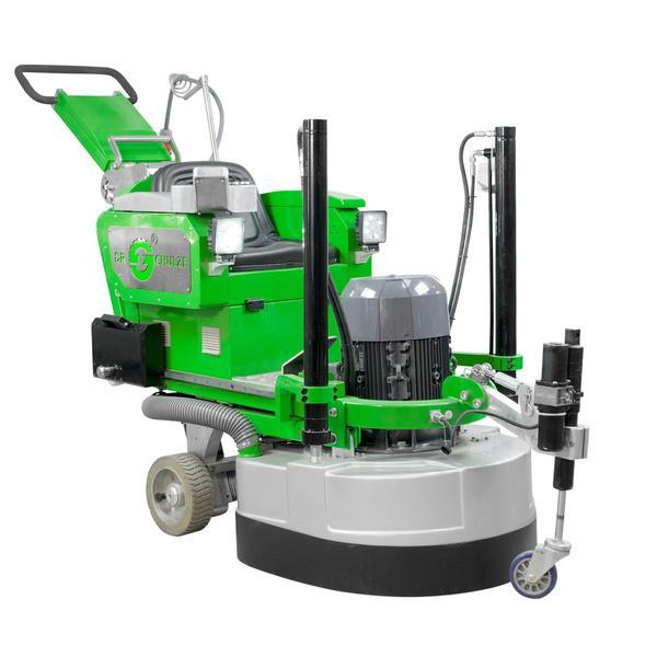 Diese robuste und kräftige Mehrscheiben-Schleifmaschine DBS-820-4H RIDER verfügt über einen Aufsitz für eine Person wie auf dem Produktbild sichtbar.