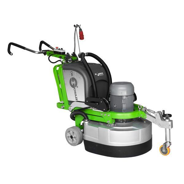 Die innovative Mehrscheiben-Schleifmaschine DBS-820-4H ist mit ihren Bestandteilen und Anwendungsmöglichkeiten, wie Motor oder Rad, auf diesem Bild abgebildet.
