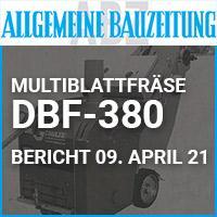 Artikel über Multifräse DBF-380 | Allgemeine Bauzeitung