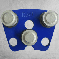 Das dunkelblaue DRS-3DP-C20…120 metallgebundene Werkzeug mit DRS-LOCK-Befestigungssystem verfügt über ein anschauliches und praktisches Äußeres.