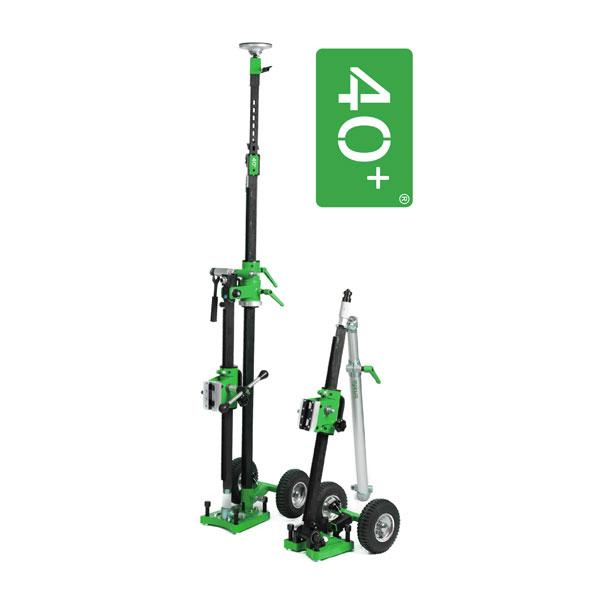 The innovative drill stand PB 40+ has a simplified transport, especially visible on the product photos, thanks to a folding mechanism for a safe work..