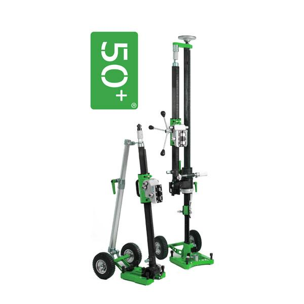 The innovative PB 50+ drill stand has a simplified transport, particularly visible on the product photos, thanks to a folding mechanism for safe working.