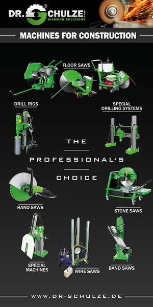 High-quality machines in different versions on a black price sheet, high-resolution representation in green tones for tillage and restoration.