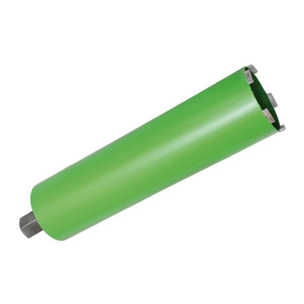 Green TBK dry drill bit in the premium version for the highest quality when working with masonry, sand-lime bricks or abrasive materials on construction.