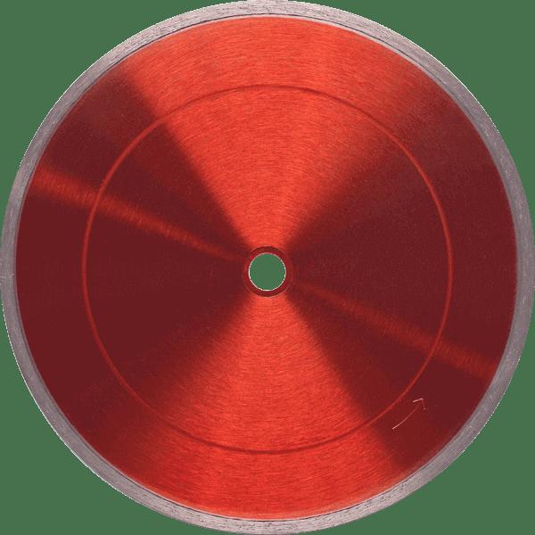 Die rot scheinende Diamanttrennscheibe FL-E ist eine spezielle Trennscheibenart mit einem geschlossenen Schneidrand für revolutionäre Ergebnisse.