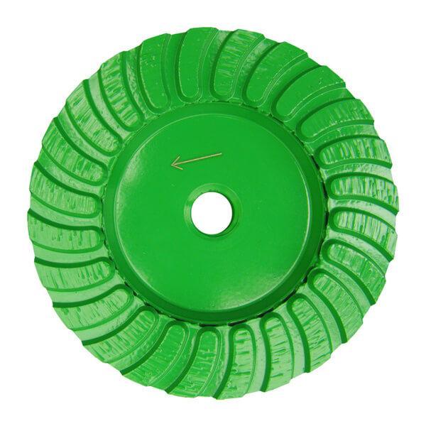 Auffälliger grüner Schleifteller STT-G fungiert als Werkzeug für Handschleifmaschinen außerordentlich zuverlässig und langlebig mit tollen Ergebnissen.