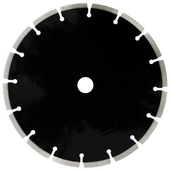 Die schwarze Diamanttrennscheibe L-Abrasiv besitzt eine runde Form und gleichmäßige Segmente, welche geeignet sind für abrasive Materialien.