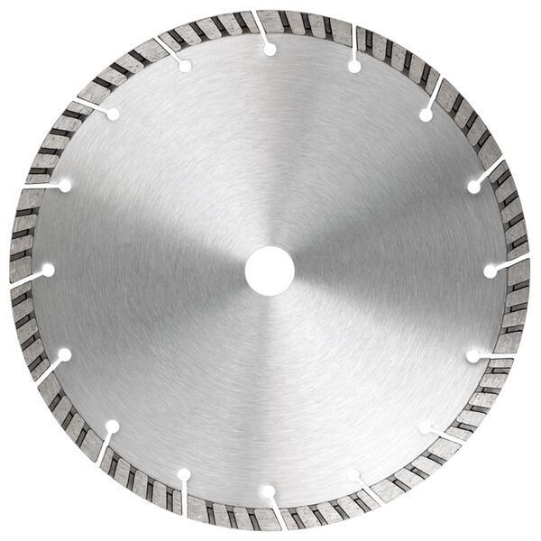 Die UNI-X10 Diamanttrennscheibe verfügt über Turbosegmente und eine enge Verzahnung, die mit den Steintrennmaschinen perfekt zusammenarbeitet.