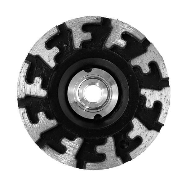 Der Diamantschleifteller PCD-ST-Whisper verfügt über einen patentierten Trägerkörper aus Gummi für zuverlässige und professionelle Ergebnisse.