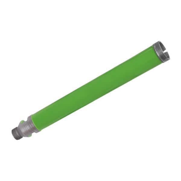 Grüne und dünnlippige DL-G Diamantbohrkrone in der Premium Ausführung. Effektives Arbeiten bei Granit und Hartgestein garantieren hohe Zeiteinsparung.