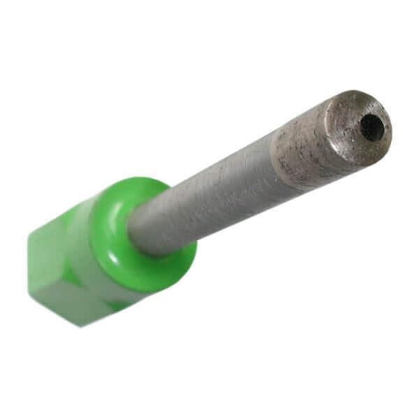 Grüne und länglicher Sacklochbohrer SLB-G in der Premium Variante. Effektives Arbeiten mit sehr hoher Zeitersparnis bei Granit und Hartgestein.
