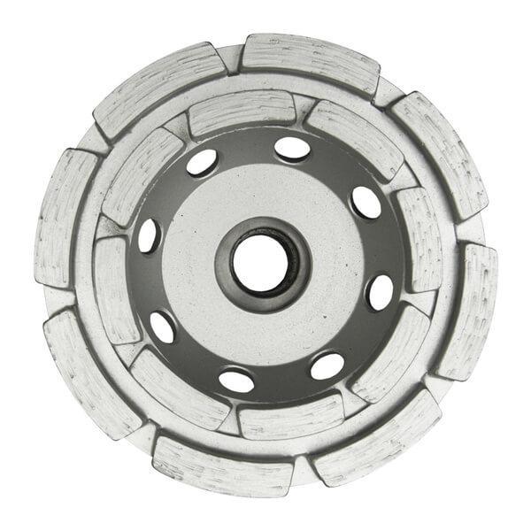 Grauer und runder ST2-C Schleifteller garantiert mit 2 Reihen effektives Arbeiten bei Naturstein und Beton in der Standard Ausführung. Verschiedene Durchmesser.