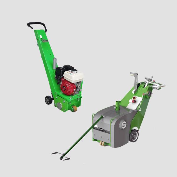 Die Bodenfräsmaschinen überzeugen mit ihrem praktischen Design und tollen Anwendungsmöglichkeiten, vor allem auf Bildern kommt die grüne Farbe zu Geltung.