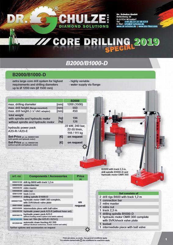 Core drilling spezial