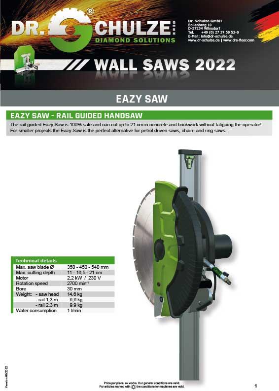 Wall saw Easy saw