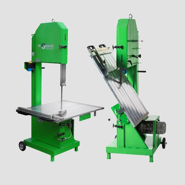Mobile band saws BAS-400 and BAS-650 have a robust construction and a precisely guided cutting table for cutting large aerated concrete blocks.