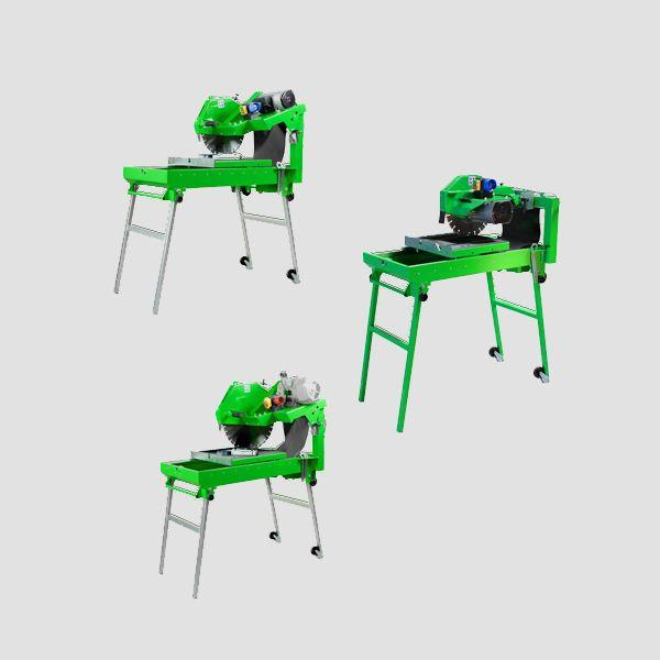 Table saws manufactured by Dr. Schulze GmbH, which has been processing satisfactorily with every material for 20 years.