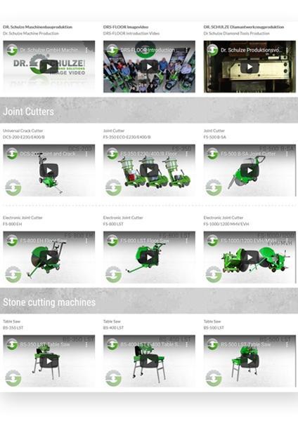 Unter diesem grünen Playbutton finden Sie hochwertige und ausführliche Produktvideos zu unseren neusten Maschinen und Werkzeugen mit vielen Informationen.