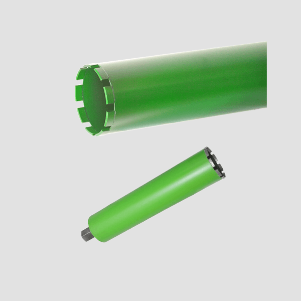 Two green and elongated drill bits from Dr. Schulze GmbH. Fast and clean work under many difficult circumstances is guaranteed as usual by high quality.