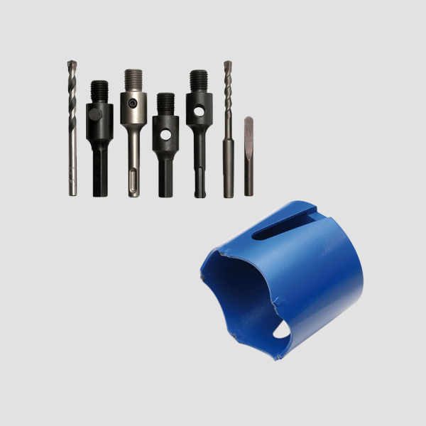 Various gray and elongated can countersinks and accessories for the Dr. Schulze machines. Safe and fast work is guaranteed with these tools.