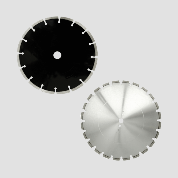 Abrasive Materialien, Granit, Hartgestein oder Beton und weitere können mit diesen hier dargestellten Diamanttrennscheiben optimale bearbeitet werden.
