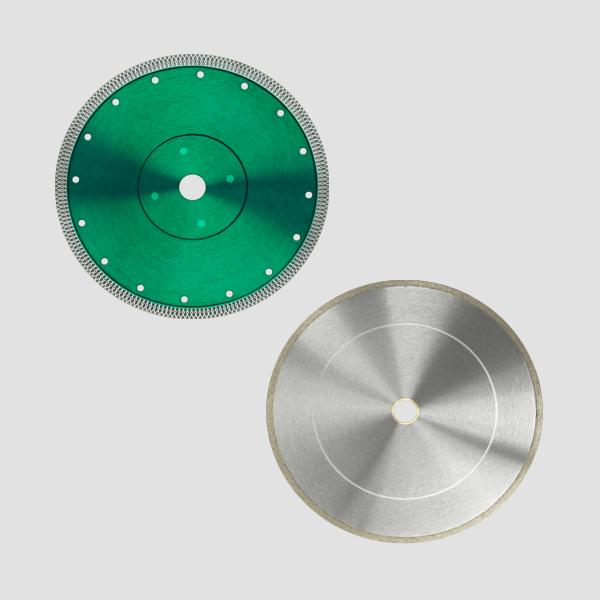 Fliesen oder Keramik Materialien können mit diesen robusten Diamanttrennscheiben für Steintrennmaschinen sehr einfach und problemlos bearbeitet werden.